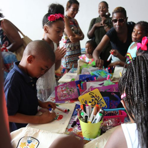 Families enjoy arts and crafts