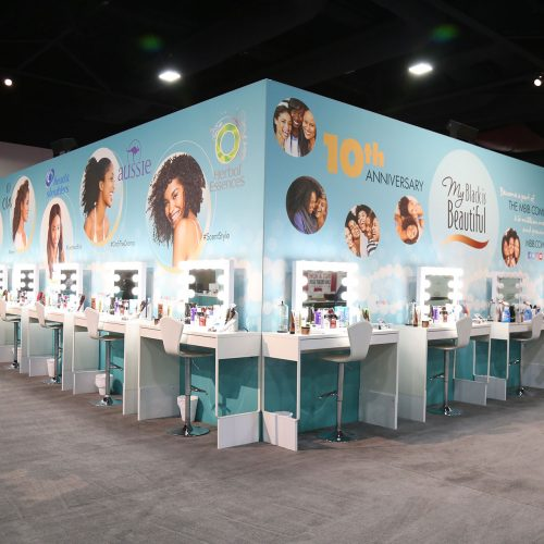 MBIB beauty and styling stations at the expo in Atlanta