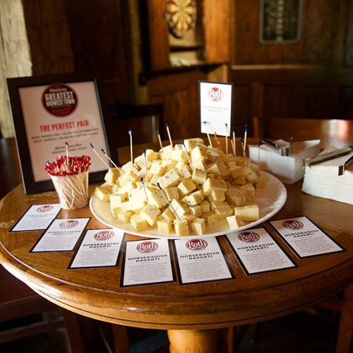 Roth cheese samples at The Blind Pig